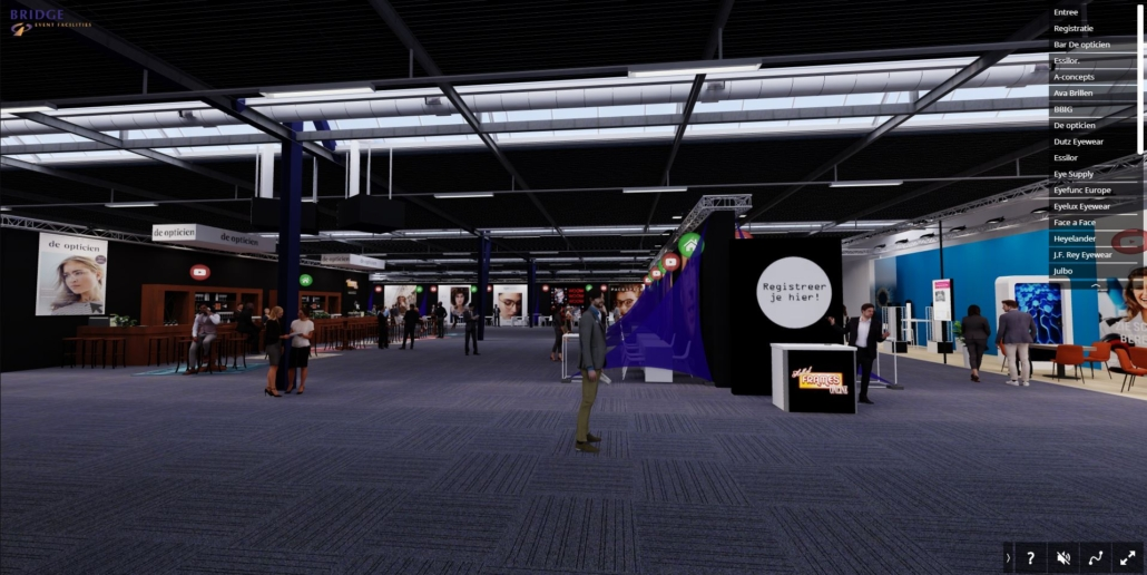 online beurs in virtual reality