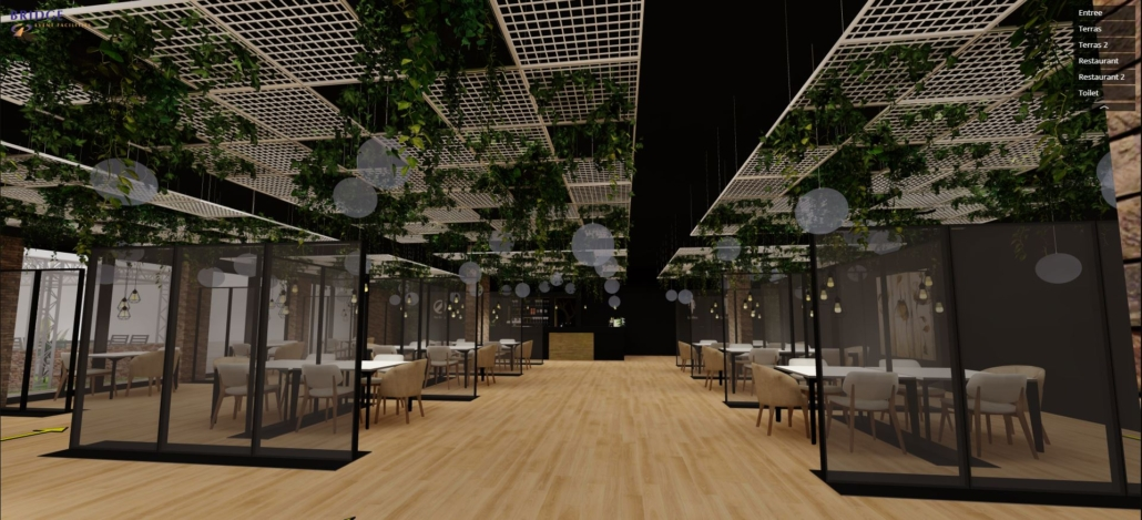 restaurant in virtual reality
