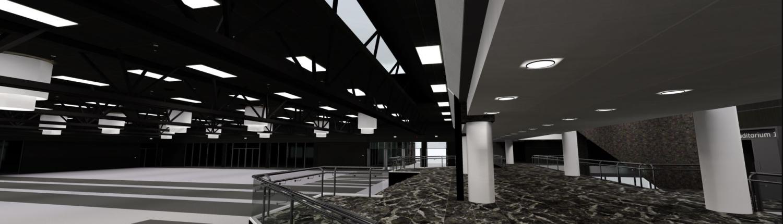 Digitaal congres in een virtuele congreslocatie